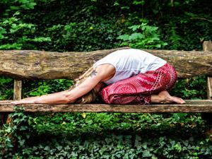 Yoga im Wald bei Eppingen, Sternenfels